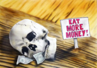 eat more money airbrushpapier